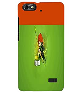 PrintDhaba Girl Fight D-5639 Back Case Cover for HUAWEI HONOR 4C (Multi-Coloured)