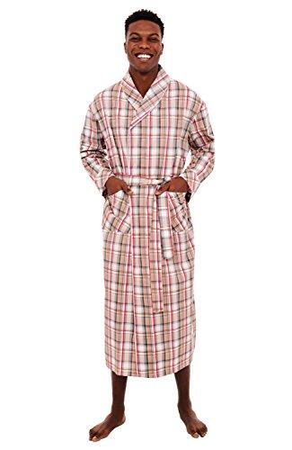 Del Rossa Men's Cotton Robe, Lightweight Woven Bathrobe, 3XL Light Multi Plaid (A0715R113X) (Cool Bath Robes For Men compare prices)
