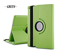 TGK 360 Degree Rotating Leather Case Cover Stand for iPad Mini Retina Display - Green