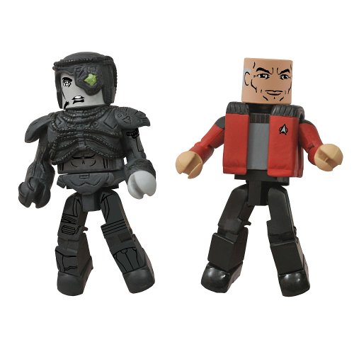 Star Trek Legacy Wave 1 Minimates Action Figure - Captain Picard & Hugh