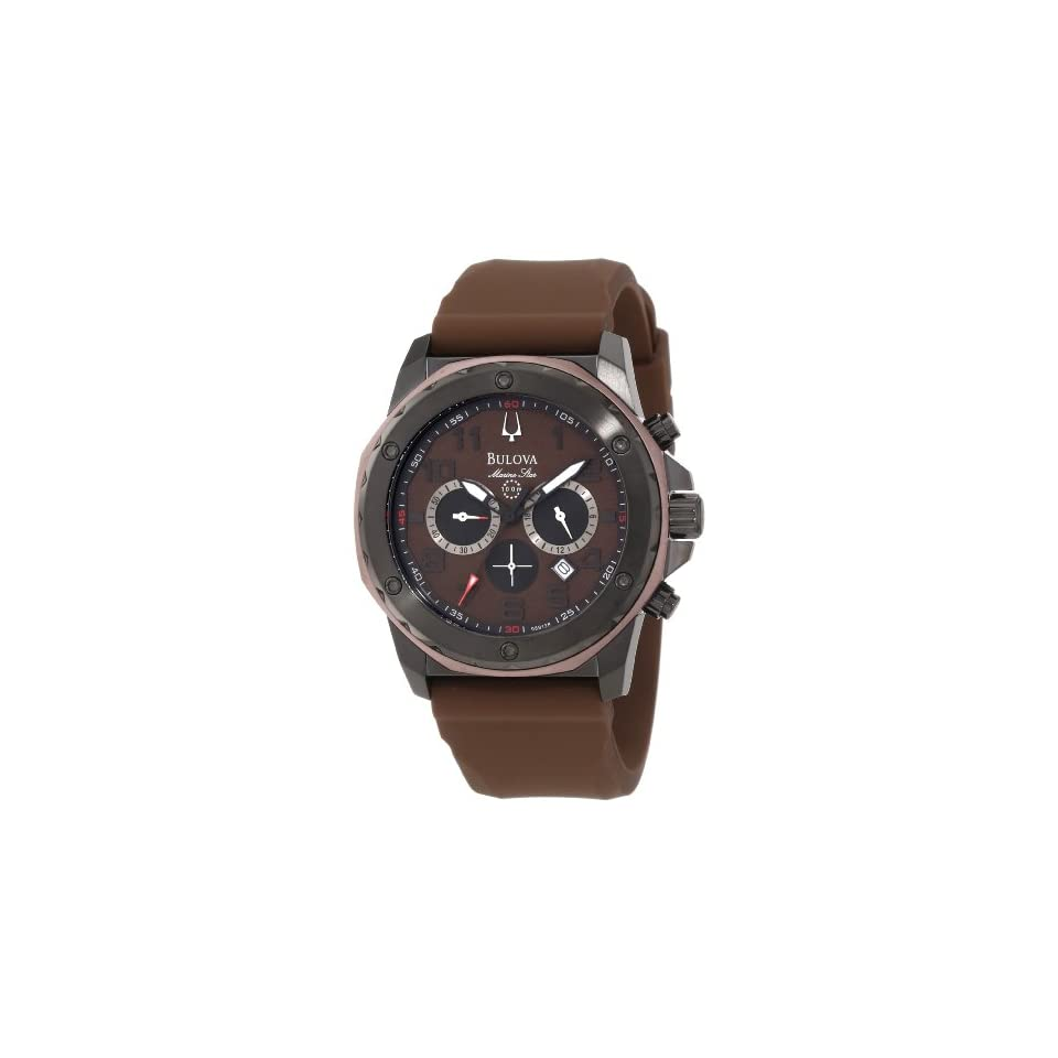 Bulova Mens 98B128 Marine Star Brown Dial Strap Watch