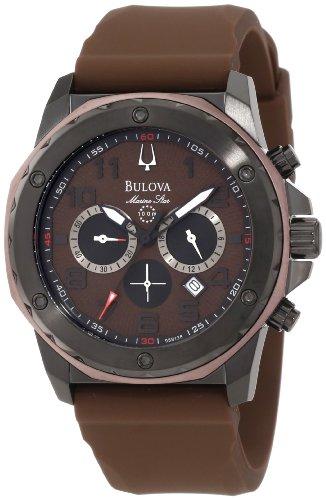 Bulova Men's 98B128 Marine Star Brown Dial Strap Watch