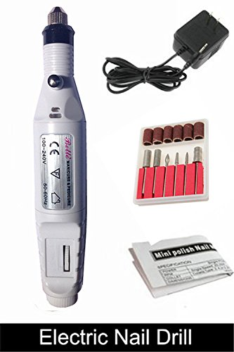 Belle® New Brand Pen Shape Electric Nail Drill Art Manicure File Tool White