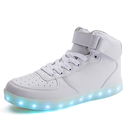 Miss Cutie Women & Men Unisex LED 7 Color Lights Chargable Flashing High Top Fashion Sneakers