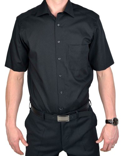 Marvelis Camicia con vestibilità comfort fit, a manica corta, bianco, articolo7973.12.00 nero 41