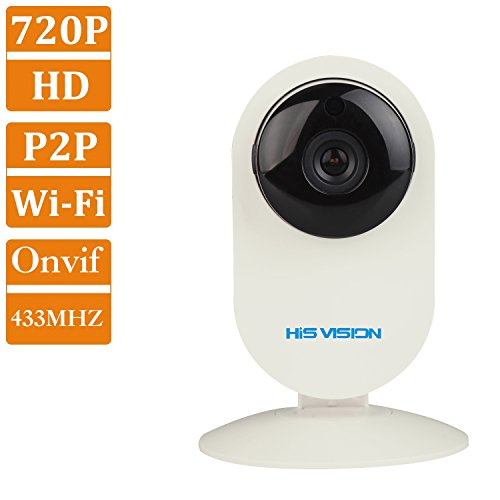HIS VISION ProHD 1280x720P MegaPixel Wireless Camera,WIFI Baby Monitor Home Security Pet Camera,IP Network Camera,25ft IR Night Vision/Motion Detection/Memory Card Slot/Two Way Audio Talk/Remote View