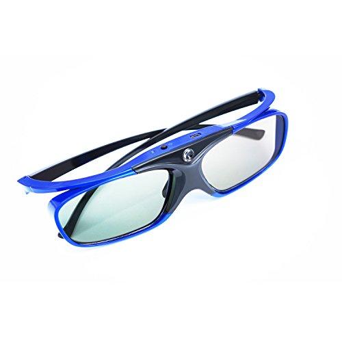 APEMAN 3D lunettes Série DLP Design léger Réchargeable 3D Glasses VR Luminance et contraste violents Compatible avec tous les vidéoprojecteurs DLP 3D