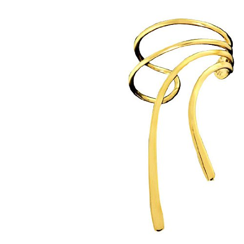 Right Only Gold Vermeil Long Wave Ear Cuff