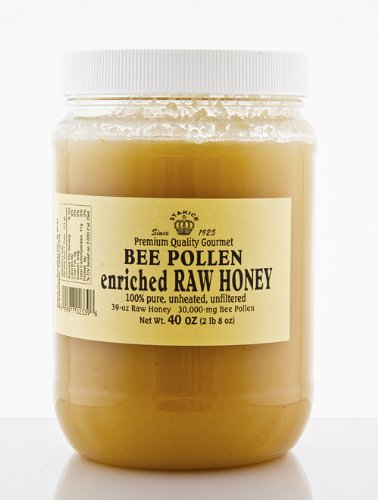 RAW HONEY ENRICHED WITH BEE POLLEN 40-OZ