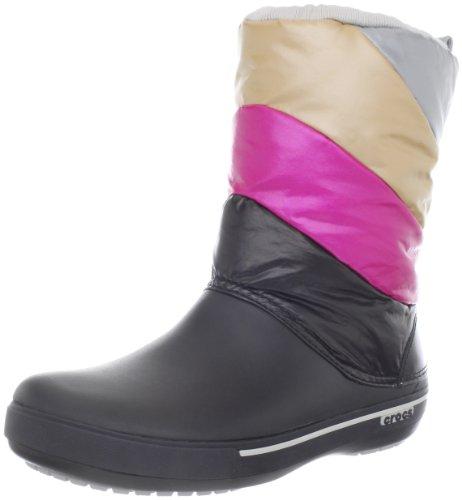 Crocs Women's Crocband II.5 Multi Winter Boot,Black/Silver,3 M US