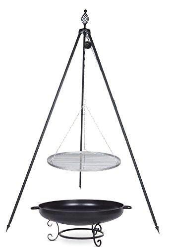 Schwenkgrill mit Dreibein Royal, Rost 70 cm aus Edelstahl, Feuerschale #42 80 cm jetzt bestellen