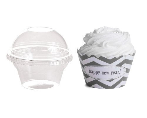 Dress My Cupcake Personalized Favor Dome Containers