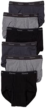 Hanes Men's 6-Pack Classics Full-Cut Brief Underwear, Assorted, Medium