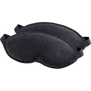 Lewis N. Clark Luggage Comfort 2 Pack Eye Mask With Adjustable Strap, Black, One Size