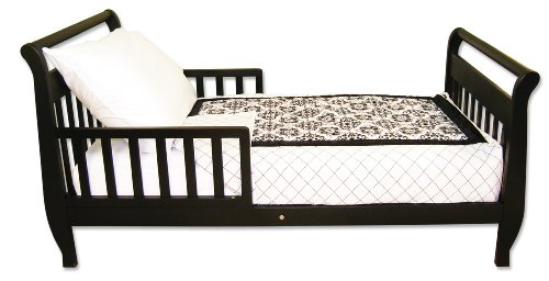 Trend Lab 4 Piece Toddler Bedding Set, Versailles Black and White