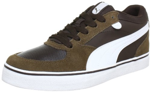 Puma Skate Vulc Low Top Mens Brown Braun (demitasse brown-white 07) Size: 38.5