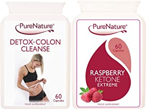 Raspberry Ketone Extreme Fat Burner Plus Detox Colon Cleanse Package As seen on TV, Made in the UK (1 Month Supply) Buy 2 Combo's & get an extra 60 Raspberry Capsules FREE + FREE UK Delivery