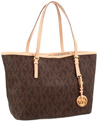 MICHAEL Michael Kors Jet Set Travel Tote,Brown,One Size