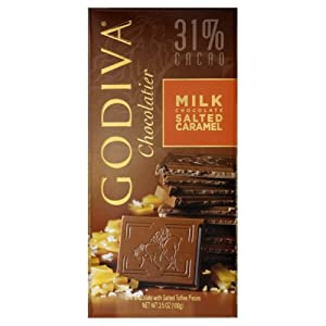 Godiva Chocolate Bar, Milk Caramel 巧克力大排5盒装$17.85