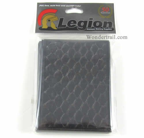 Legion Dragon Hide Deck Protector Sleeves Black 50 Pack - 1