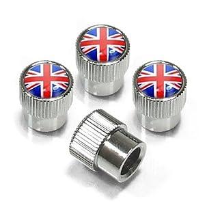 British Flag Union Jack Tire Stem Valve Caps For Mini