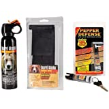 Outdoor Combo Pack - Guard Alaska 9 oz. Bear Spray Repellant w/Belt Loop Holster & Pepper Defense Max Strength 10% OC Pepper Spray - 4-Year Shelf Life Guarantee ***Cannot Be Shipped To: New York, Hawaii, Alaska, or Foreign Countries***