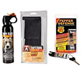 Guard Alaska (pack of 2) 9 oz. Bear Spray Repellant Firemaster Canisters & (pack of 2) Pepper Enforcement Metal Belt Clip Holsters