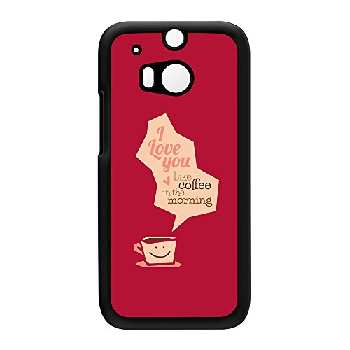 Funny Typography Coffee Quote Black Hard Plastic Case Snap-On Protective Back Cover For Htc® One M8 By Ultracases + Free Crystal Clear Screen Protector