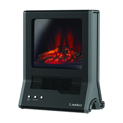 ES2Z1 Lasko CA20100 Ultra Ceramic Fireplace Heater, Black