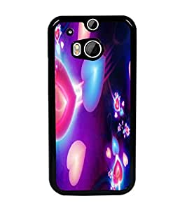 PrintDhaba Hearts D-2375 Back Case Cover for HTC ONE M8 EYE (Multi-Coloured)