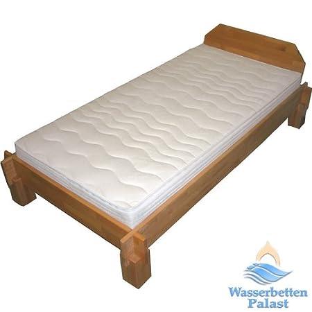 Moonlight Wellness Wasserbett Wasserbettmatratze fur Lattenrost - Bezug Frottee, 50% beruhigt, Größe 100x200cm
