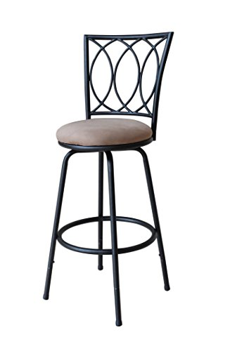 Modern Swivel Bar Stool Height Adjustable Chair Kitchen Pub Single Seat Blac