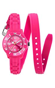 ICE-Watch - Montre femme - Quartz Analogique - Ice-Twist - Pink - Mini - Cadran Rose - Bracelet Silicone Rose - TW.PK.M.S.12