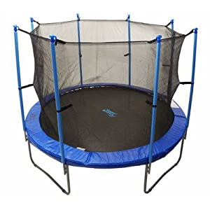 Upper Bounce Trampoline Enclosure Safety Net Fits For 14-Feet Round Frame Using 8 Poles or 4 Arches- (Poles Sold Separately)