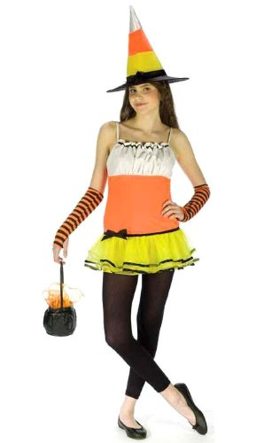 Teen Candy Corn Witch Costume - Juniors up to size 9