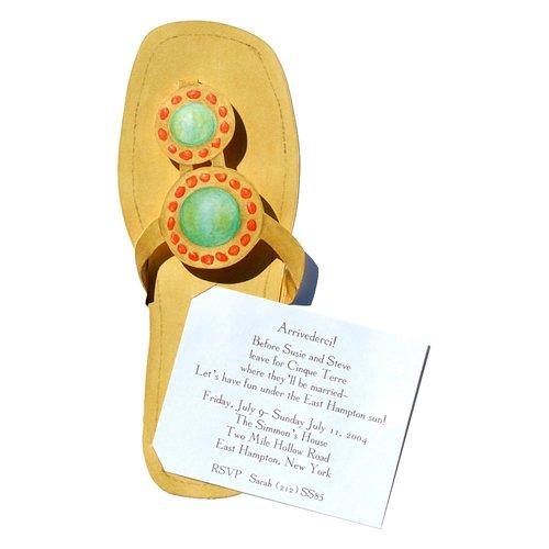 Fancy Sandal Die-Cut Card, Pack Of 10 front-945700