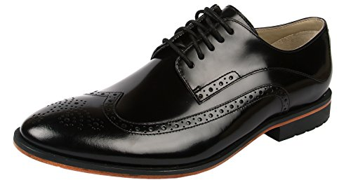 Clarks Gatley Limit, Scarpe Derby con lacci uomo, Nero (Nero (Black Leather)), 43