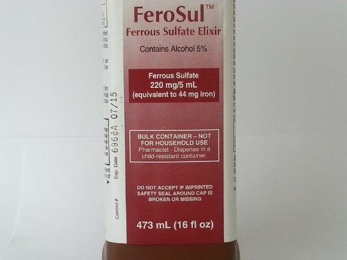Ferosul Ferrous Sulfate Elixir 220Mg/5Ml 16Oz.