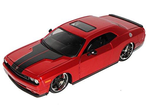dodge-challenger-3-generation-coupe-rot-tuning-ab-2008-1-24-maisto-modell-auto-mit-individiuellem-wu