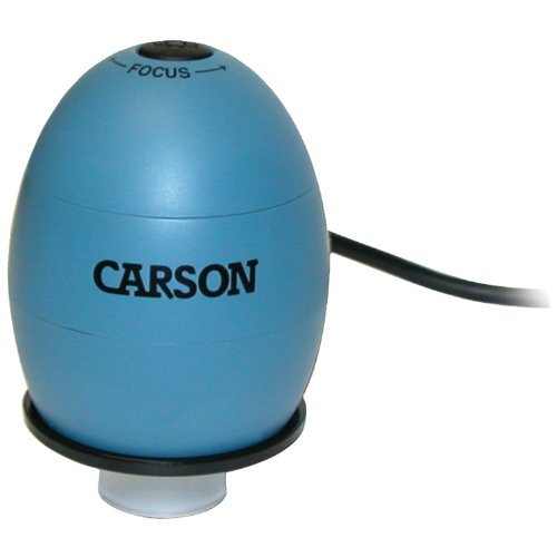 Carson Zorb Usb Digital Microscope With 53X Optical Zoom, Surf Blue (Mm-480B)
