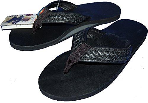 (レインボーサンダル)Rainbow Sandal 301 BENTLEY レザーサンダル (L(27,5~28,5cm), BLACK) [並行輸入品]