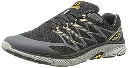 Merrell Men\'s Bare Access Ultra Trail Running Shoe,Black/Gold,8 M US