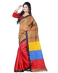 SareeShop Women's Saree with Blouse Piece Saree (Bhagalpuri20920_MultiColored _Free Size)