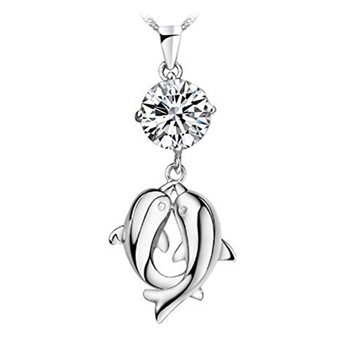 kissing-dolphins-sterling-silver-pendant-necklace