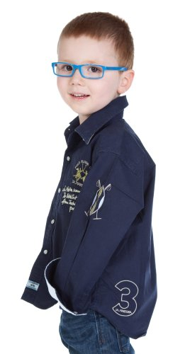 La Martina - Camicia - Con bottoni  - Maniche lunghe  - ragazzo blu navy 4 anni