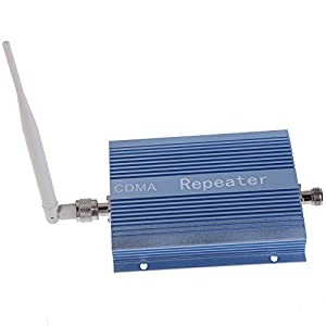 XHTECH CDMA 850MHz Mobile Phone Signal Repeater Booster Amplifier + Yagi Antenna with 10m Cable + Indoor Antenna