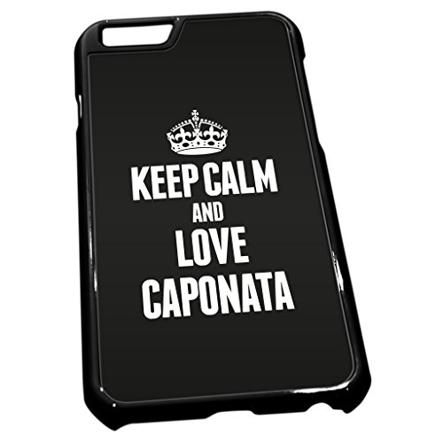 Noir coque pour iPhone 6 0903 Noir Keep Calm and Love caponata