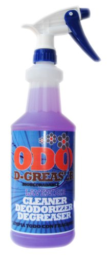 Odo D-Greaser Cleaner Deodorizer Lavender Fragance 32 Oz Bottle