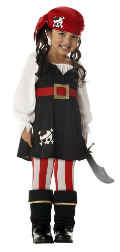 Precious Lil' Pirate Girl's Costume