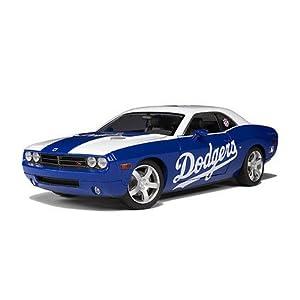 Los Angeles Dodgers Dodge Challenger Diecast Model Car